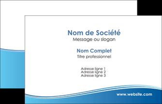 imprimer carte de visite bleu bleu pastel fond pastel MLGI68613
