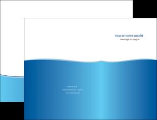 impression pochette a rabat bleu bleu pastel fond pastel MLGI68625