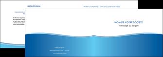 creer modele en ligne depliant 2 volets  4 pages  bleu bleu pastel fond pastel MLGI68629