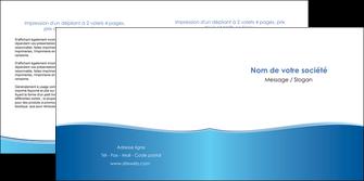 impression depliant 2 volets  4 pages  bleu bleu pastel fond pastel MLIG68643