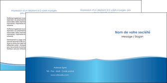 impression depliant 2 volets  4 pages  bleu bleu pastel fond pastel MLGI68643
