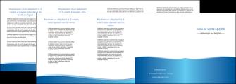 creer modele en ligne depliant 4 volets  8 pages  bleu bleu pastel fond pastel MLGI68657