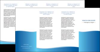 faire depliant 4 volets  8 pages  bleu bleu pastel fond pastel MLGI68661