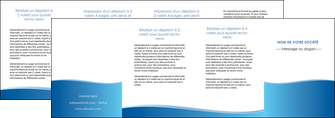 cree depliant 4 volets  8 pages  bleu bleu pastel fond pastel MLGI68663