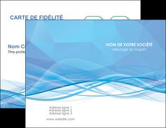 imprimer carte de visite bleu bleu pastel fond bleu pastel MLGI68935