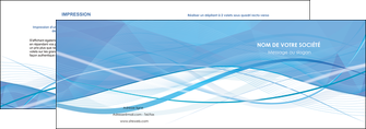 modele en ligne depliant 2 volets  4 pages  bleu bleu pastel fond bleu pastel MLGI68941