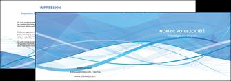 modele depliant 2 volets  4 pages  bleu bleu pastel fond bleu pastel MLGI68943