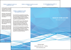 realiser depliant 3 volets  6 pages  bleu bleu pastel fond bleu pastel MLGI68951