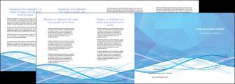 imprimerie depliant 4 volets  8 pages  bleu bleu pastel fond bleu pastel MLGI68969