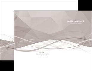 imprimer pochette a rabat gris fond gris simple MLGI69007