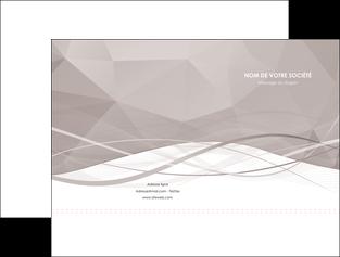 personnaliser modele de pochette a rabat gris fond gris simple MLGI69009