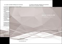 modele en ligne depliant 2 volets  4 pages  gris fond gris simple MLGI69035