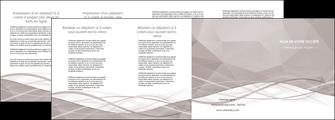 realiser depliant 4 volets  8 pages  gris fond gris simple MLGI69039