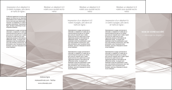 modele depliant 4 volets  8 pages  gris fond gris simple MLGI69043