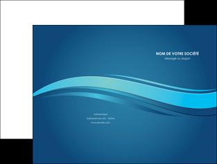 personnaliser modele de pochette a rabat bleu bleu pastel fond bleu MIS69637
