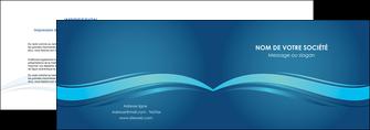 imprimerie depliant 2 volets  4 pages  bleu bleu pastel fond bleu MIS69641