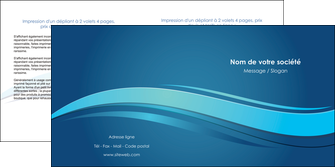 personnaliser modele de depliant 2 volets  4 pages  bleu bleu pastel fond bleu MIS69653