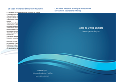 cree depliant 2 volets  4 pages  bleu bleu pastel fond bleu MIS69663