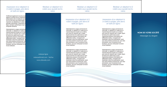 modele en ligne depliant 4 volets  8 pages  bleu bleu pastel fond bleu MIS69671
