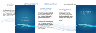 maquette en ligne a personnaliser depliant 4 volets  8 pages  bleu bleu pastel fond bleu MIS69673