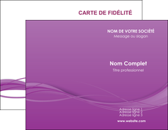 imprimer carte de visite web design fond violet fond colore action MIF69789
