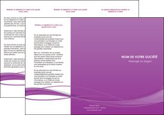 creer modele en ligne depliant 3 volets  6 pages  web design fond violet fond colore action MIF69805