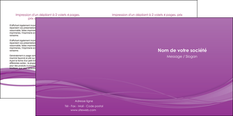 modele depliant 2 volets  4 pages  web design fond violet fond colore action MIF69809