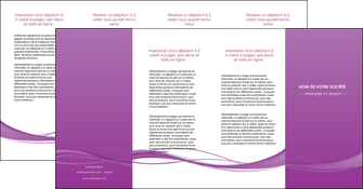 personnaliser modele de depliant 4 volets  8 pages  web design fond violet fond colore action MIF69827
