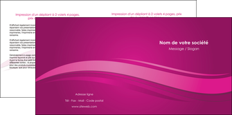 imprimerie depliant 2 volets  4 pages  violet violace fond violet MIF69861