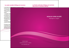 personnaliser modele de depliant 2 volets  4 pages  violet violace fond violet MIF69871