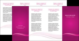 modele depliant 4 volets  8 pages  violet violace fond violet MIF69879