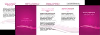 faire depliant 4 volets  8 pages  violet violace fond violet MIF69881