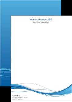 personnaliser modele de affiche bleu bleu pastel fond bleu MIF70053