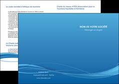 maquette en ligne a personnaliser depliant 2 volets  4 pages  bleu bleu pastel fond bleu MIF70055