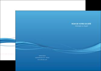 exemple pochette a rabat bleu bleu pastel fond bleu MIF70061