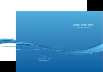 exemple pochette a rabat bleu bleu pastel fond bleu MIF70063