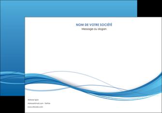 exemple affiche bleu bleu pastel fond bleu MIF70071