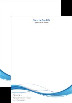 imprimer tete de lettre bleu bleu pastel fond bleu MIF70081
