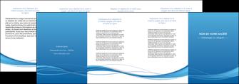 faire depliant 4 volets  8 pages  bleu bleu pastel fond bleu MIF70091