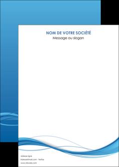 imprimerie affiche bleu bleu pastel fond bleu MIF70093