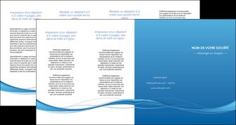 personnaliser modele de depliant 4 volets  8 pages  bleu bleu pastel fond bleu MIF70095