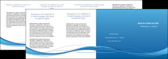 creation graphique en ligne depliant 4 volets  8 pages  bleu bleu pastel fond bleu MIF70097