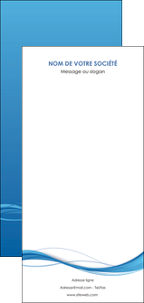 maquette en ligne a personnaliser flyers bleu bleu pastel fond bleu MIF70099