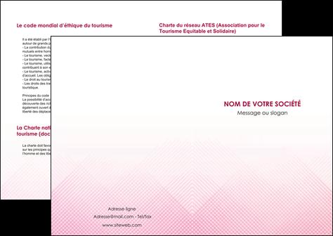 exemple depliant 2 volets  4 pages  rose rose tendre fond en rose MLGI70211