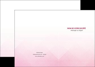 imprimerie pochette a rabat rose rose tendre fond en rose MLGI70217