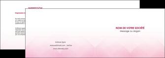 realiser depliant 2 volets  4 pages  rose rose tendre fond en rose MLGI70221