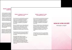 personnaliser modele de depliant 3 volets  6 pages  rose rose tendre fond en rose MLGI70231