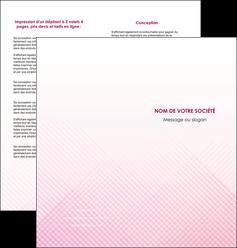 modele depliant 2 volets  4 pages  rose rose tendre fond en rose MLGI70233