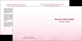 realiser depliant 2 volets  4 pages  rose rose tendre fond en rose MLGI70235