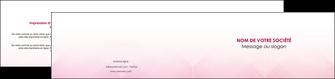 faire depliant 2 volets  4 pages  rose rose tendre fond en rose MLGI70241